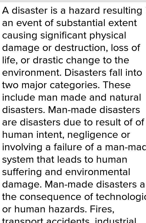 Essay about man made disasters cover letter for training coordinator sample