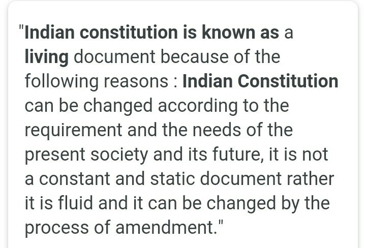 the indian constitution is a living document