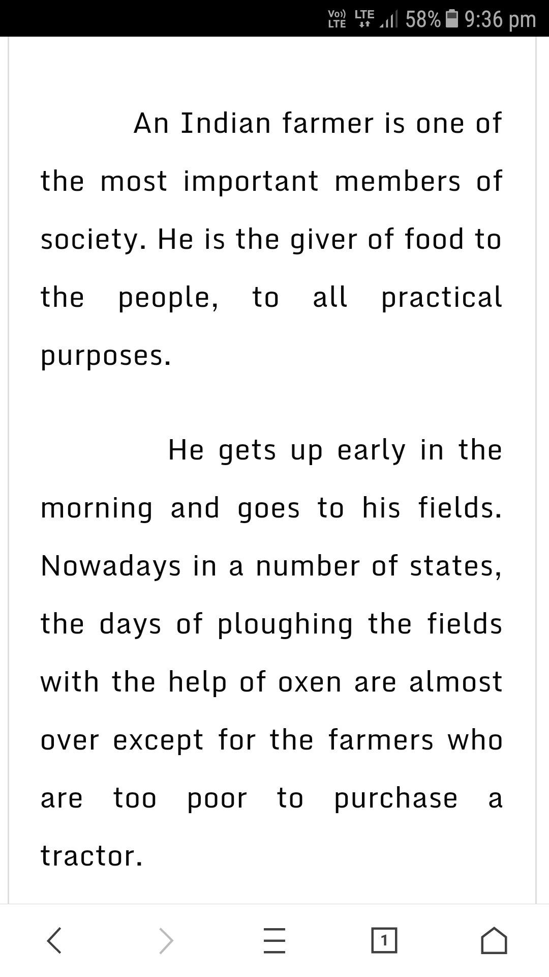the farmer essay for class 6