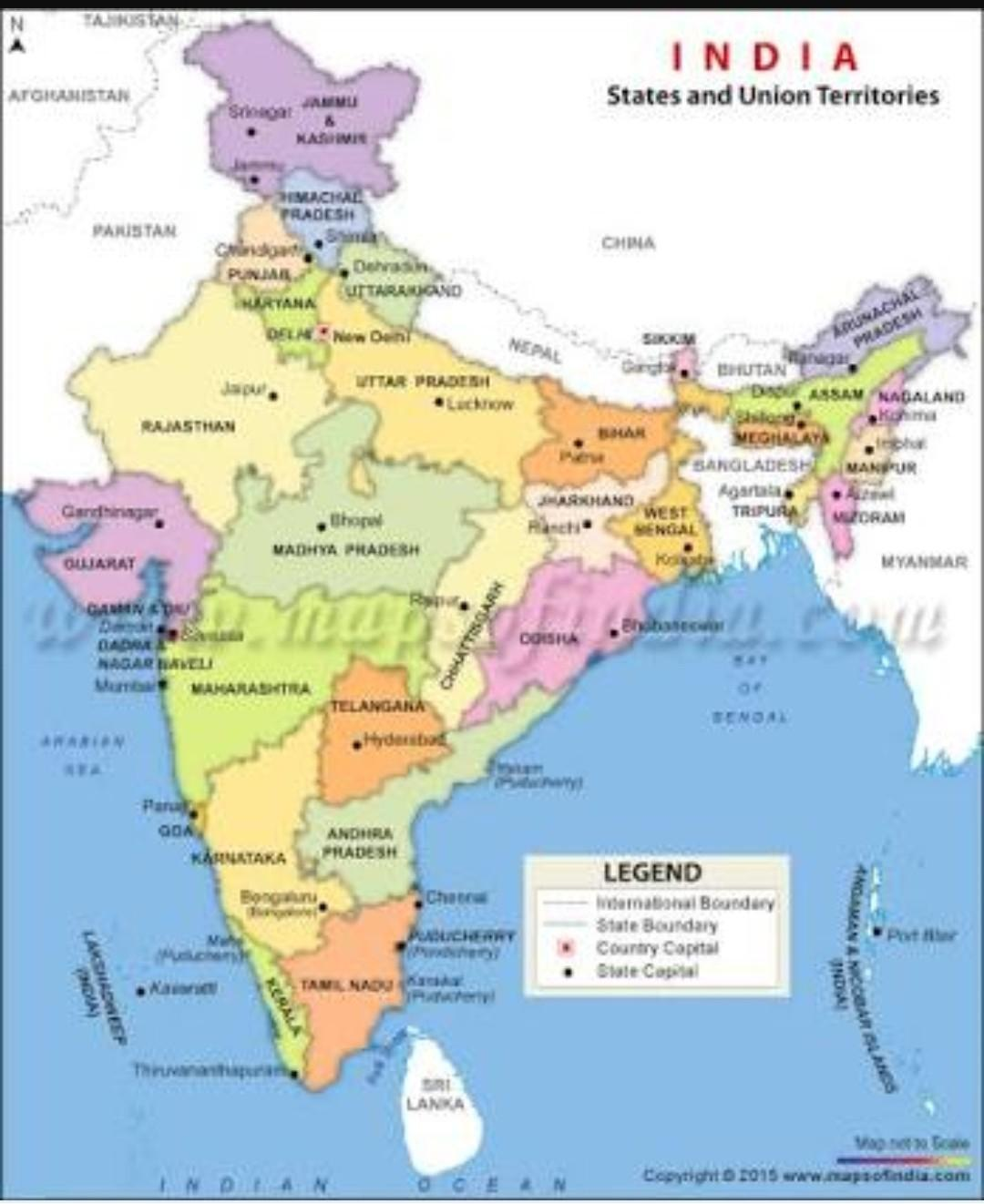 political map indian states and capitals Mark Indian States With Their Capitals On Political Map Of India political map indian states and capitals
