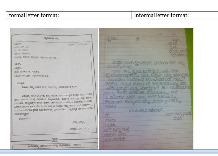 Format Of Informal Letter In Kannada Brainly In