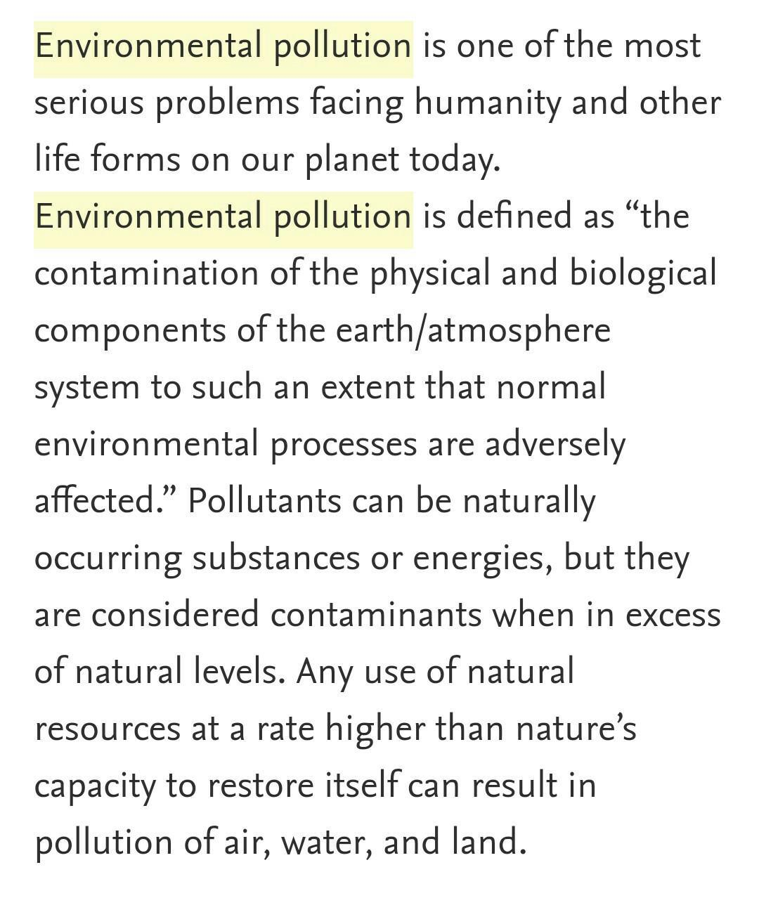 200 word essay save our environment