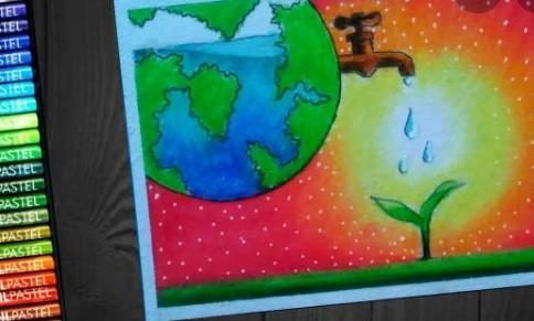 Paintings On Saving Water Easy To Draw For Kids Brainly In