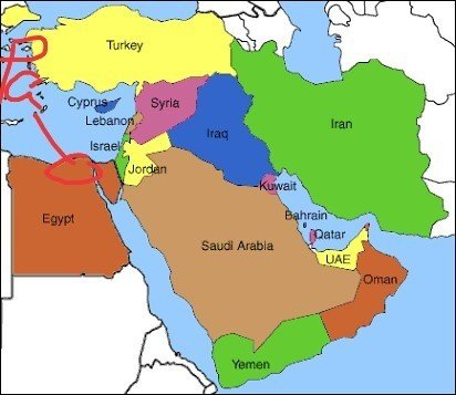 World map showing palestine israeal lebanon and syria brainly download jpg gumiabroncs Choice Image