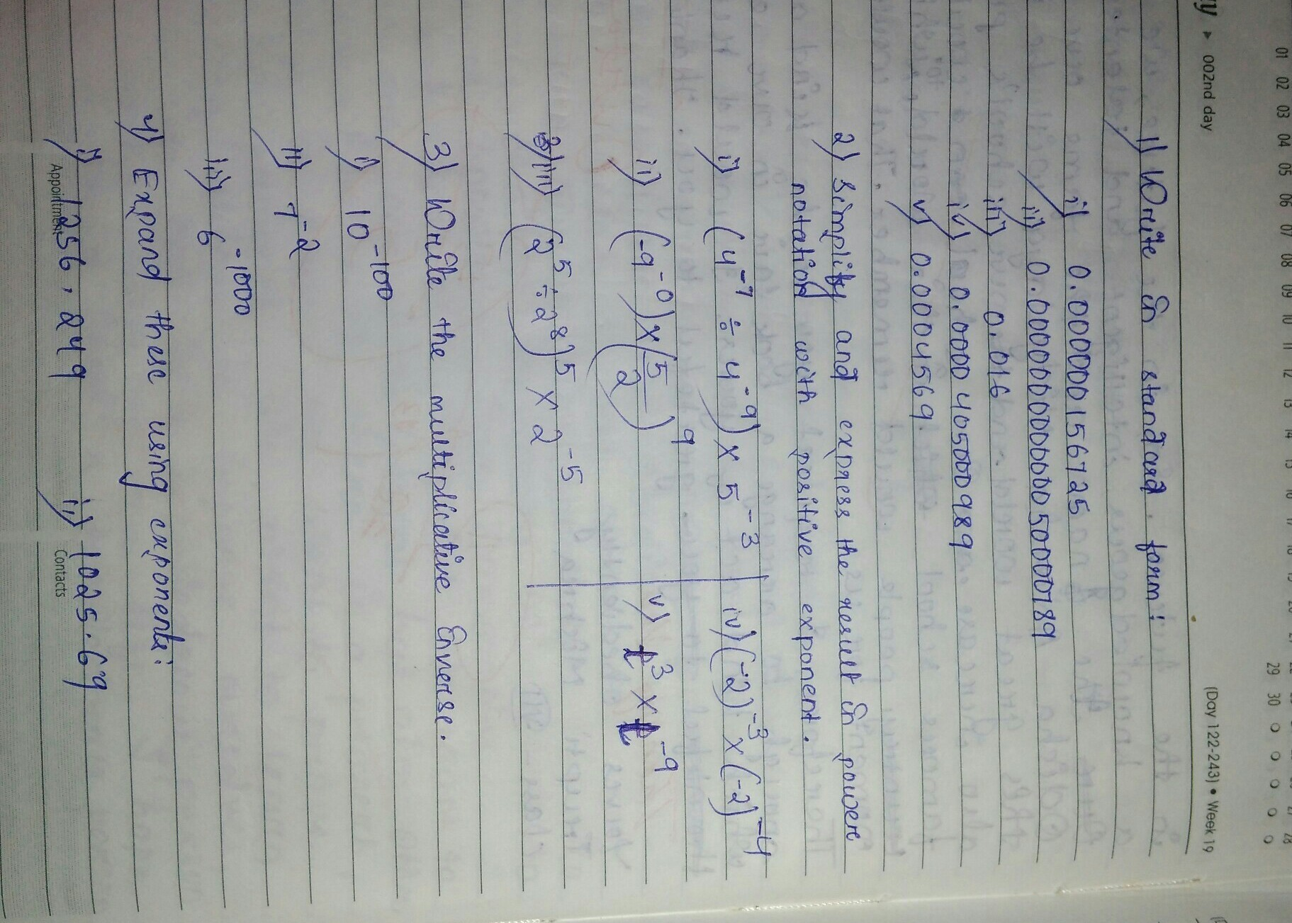 Rational Numbers Problems For Class 8