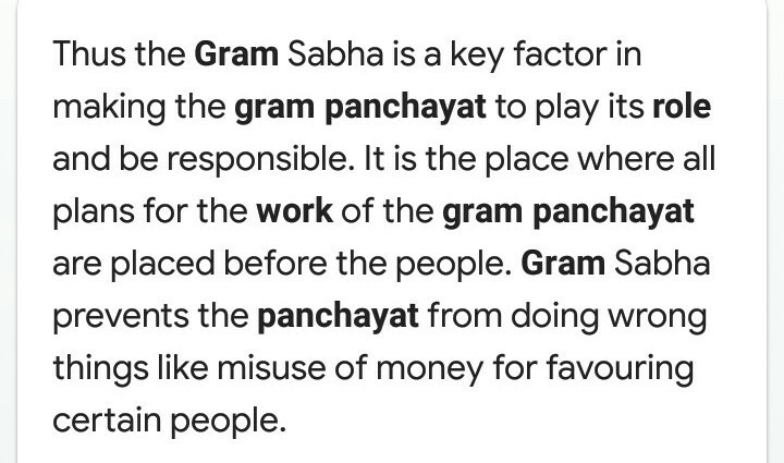 What is the work of gram panchitc - Brainly in