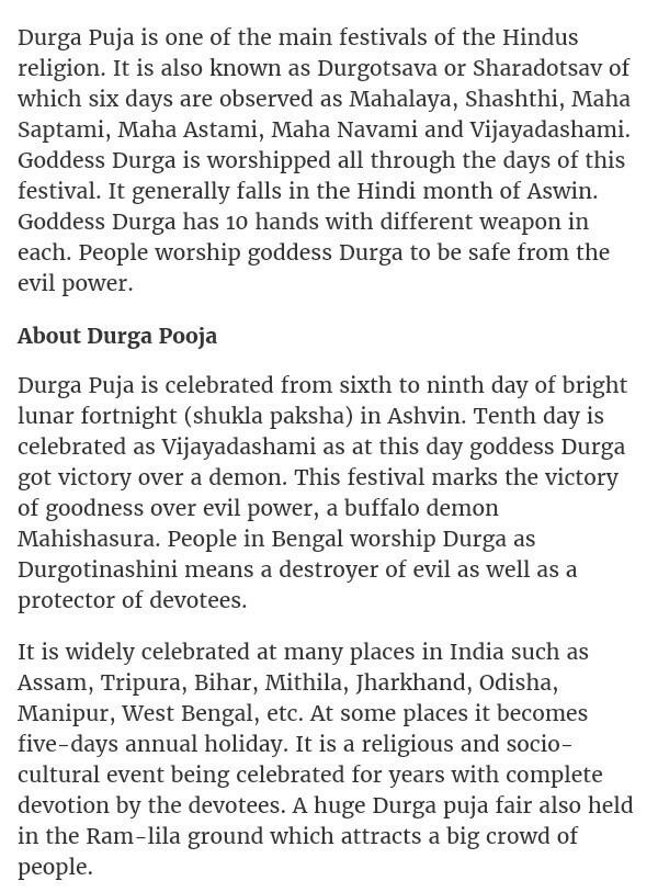 essay writing durga puja