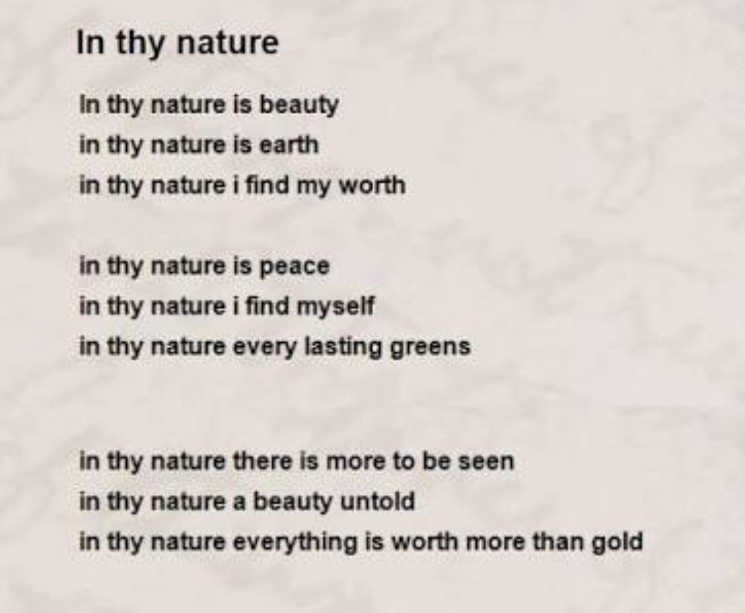 Poem On Nature For 7 Standard Brainlyin