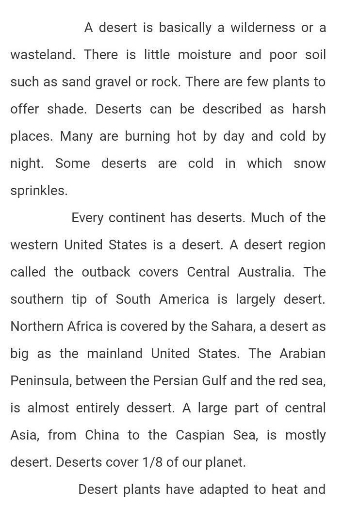 short paragraph on sahara desert