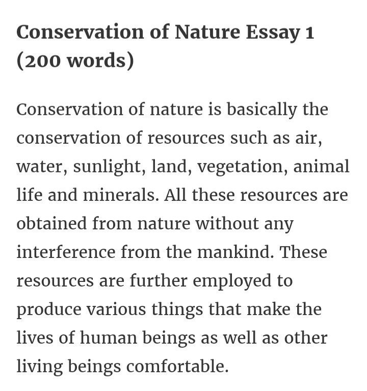 Short essay conservation environment how to write review papers