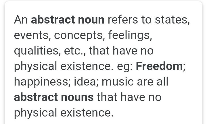is freedom an abstract noun