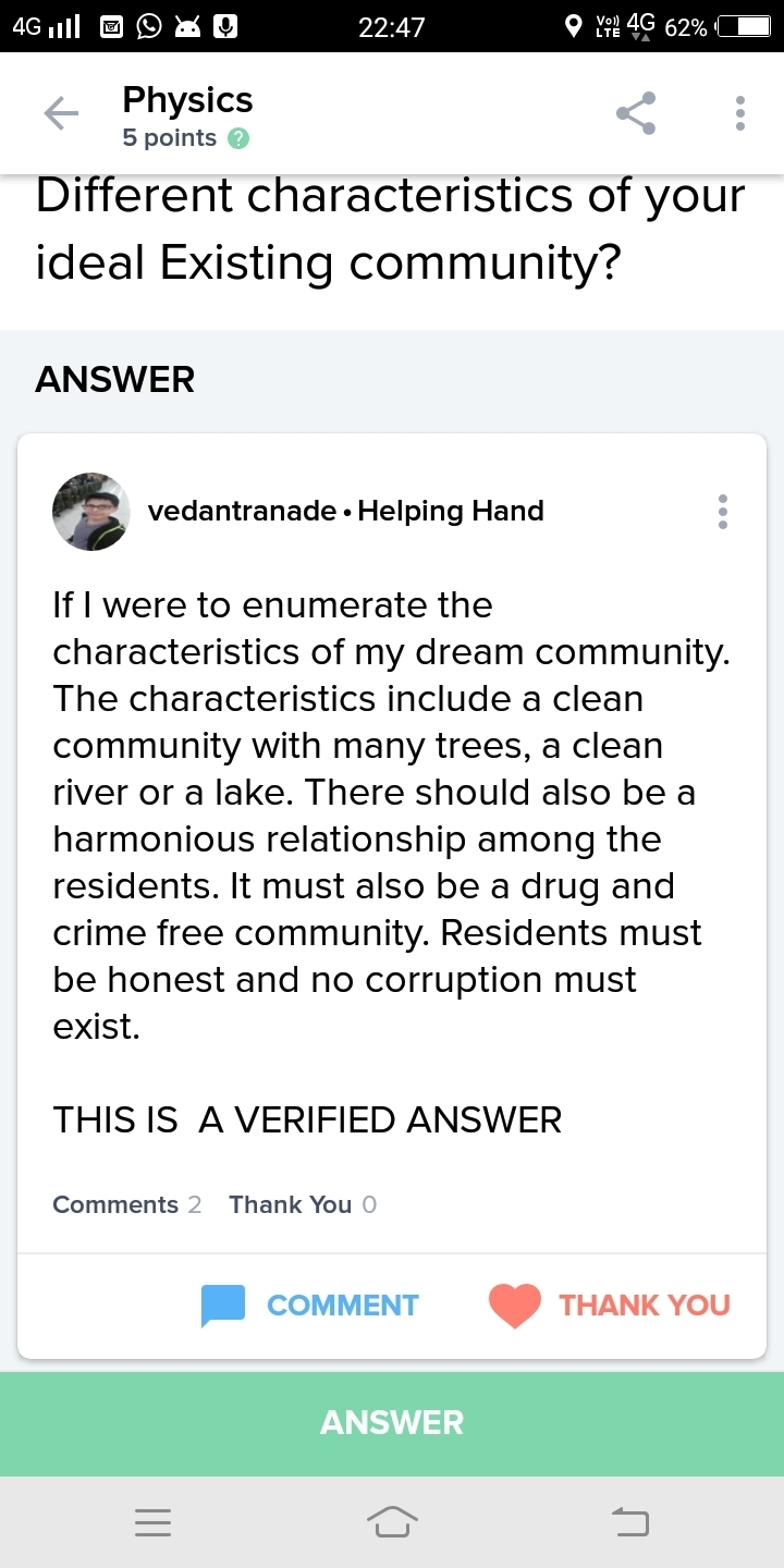 what is your dream community