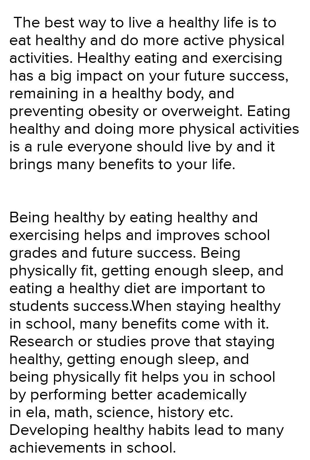 Essay writing on healthy habits indian lawyer resume sample