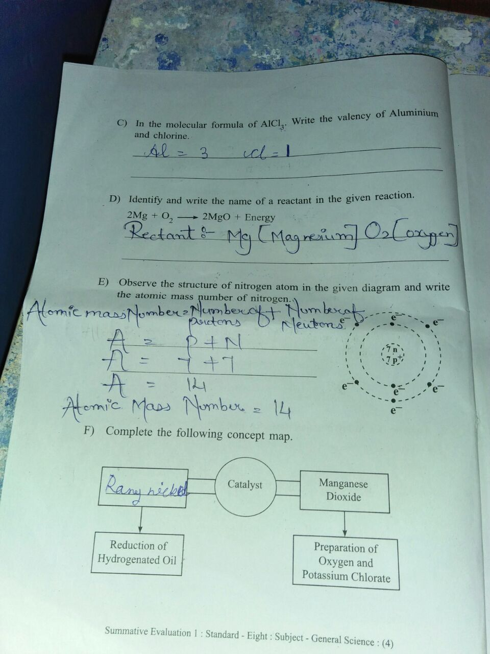 baseline paper of std 6th answer - Brainly in
