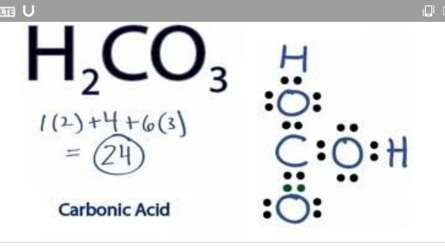Draw the Lewis dot structure of H2CO3. - Brainly.in