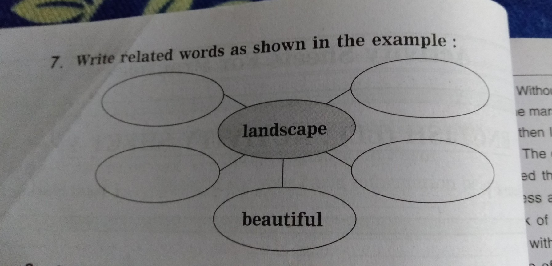 Write Related Words As Shown In The Example Brainly In