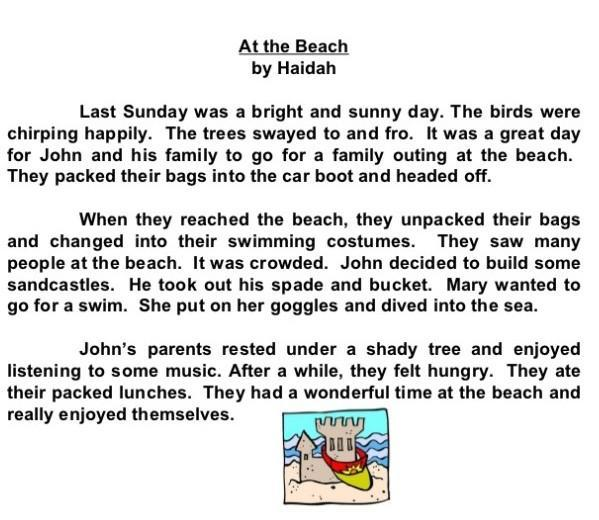 A day at the beach essay