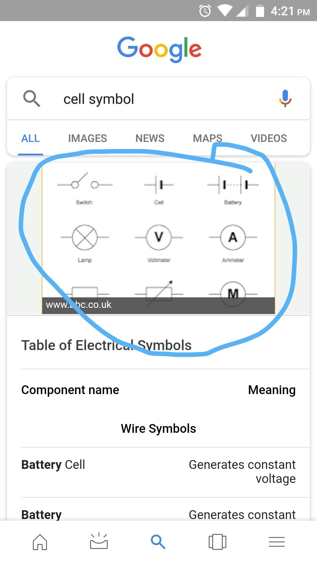 Draw The Symbols Of The Following Electric Components A Cell B