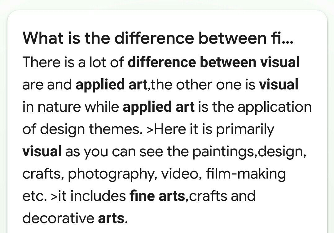 Difference Between Applied Arts And Visual Communication In Finearts Brainly In