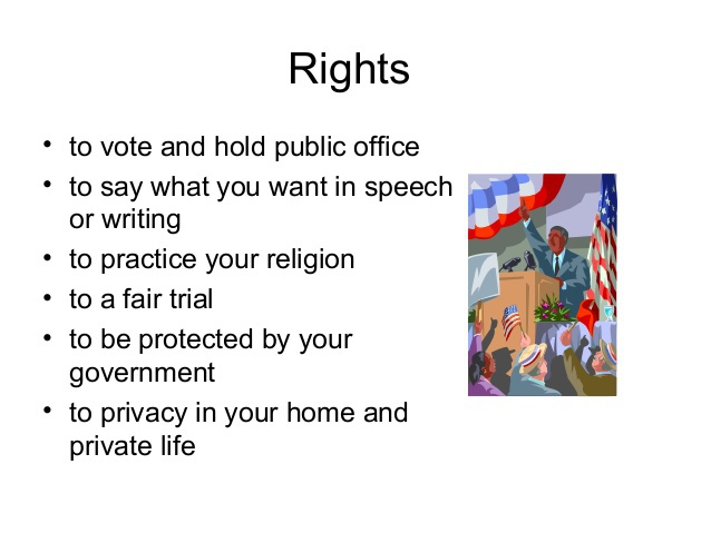 rights and responsibilities of citizens in a democracy