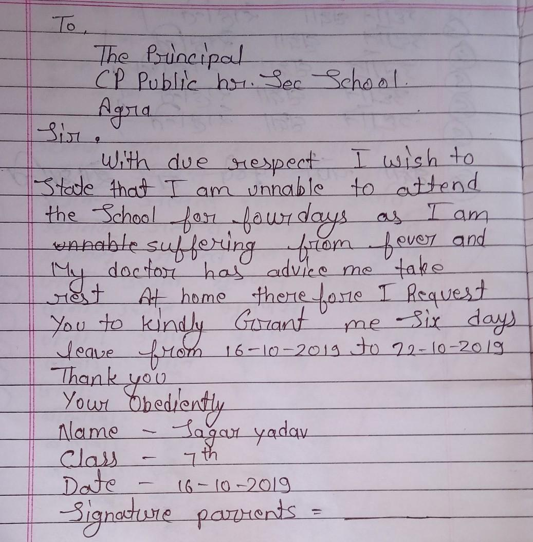 how to write a parent letter to teacher for absent