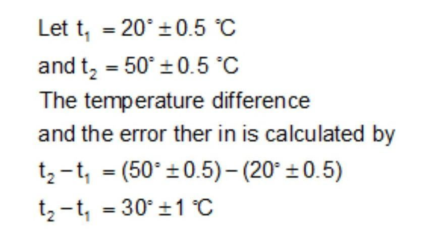 The temperature of two bodies measured by a thermometer are