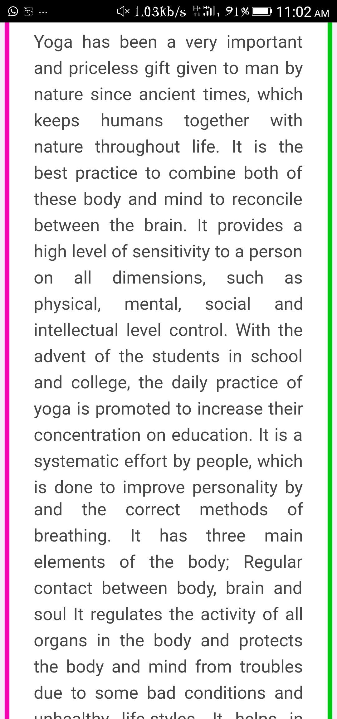 importance of yoga essay   brainlyin