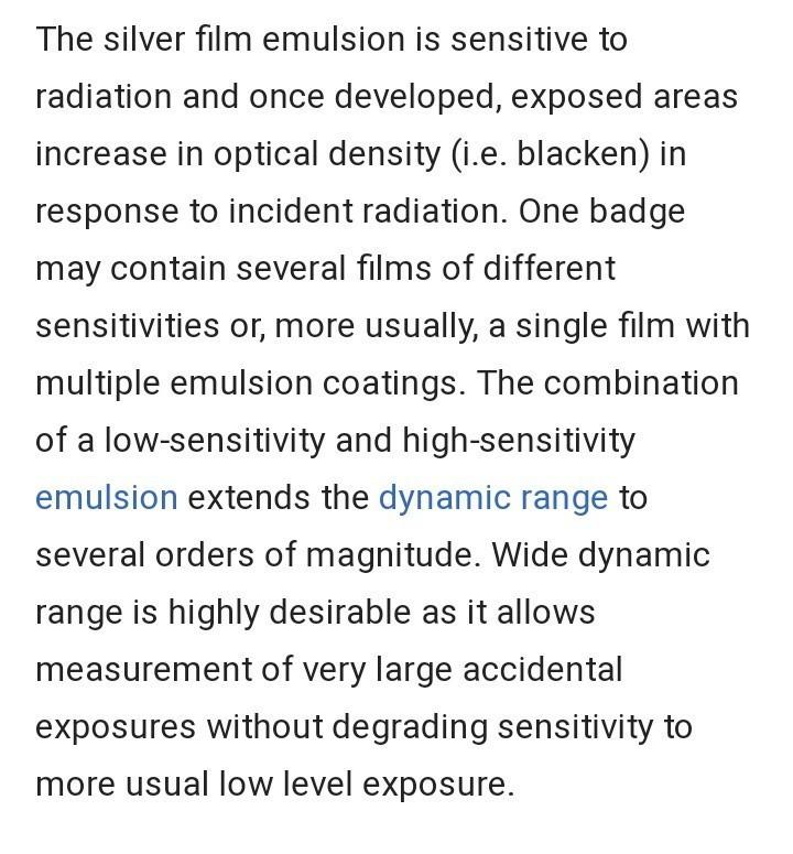 Principal Of Film Badge Dosimeter Brainlyin