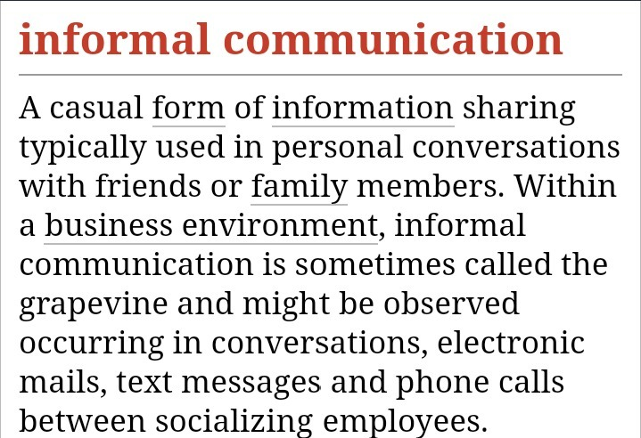 What is the meaning of formal organization and informal
