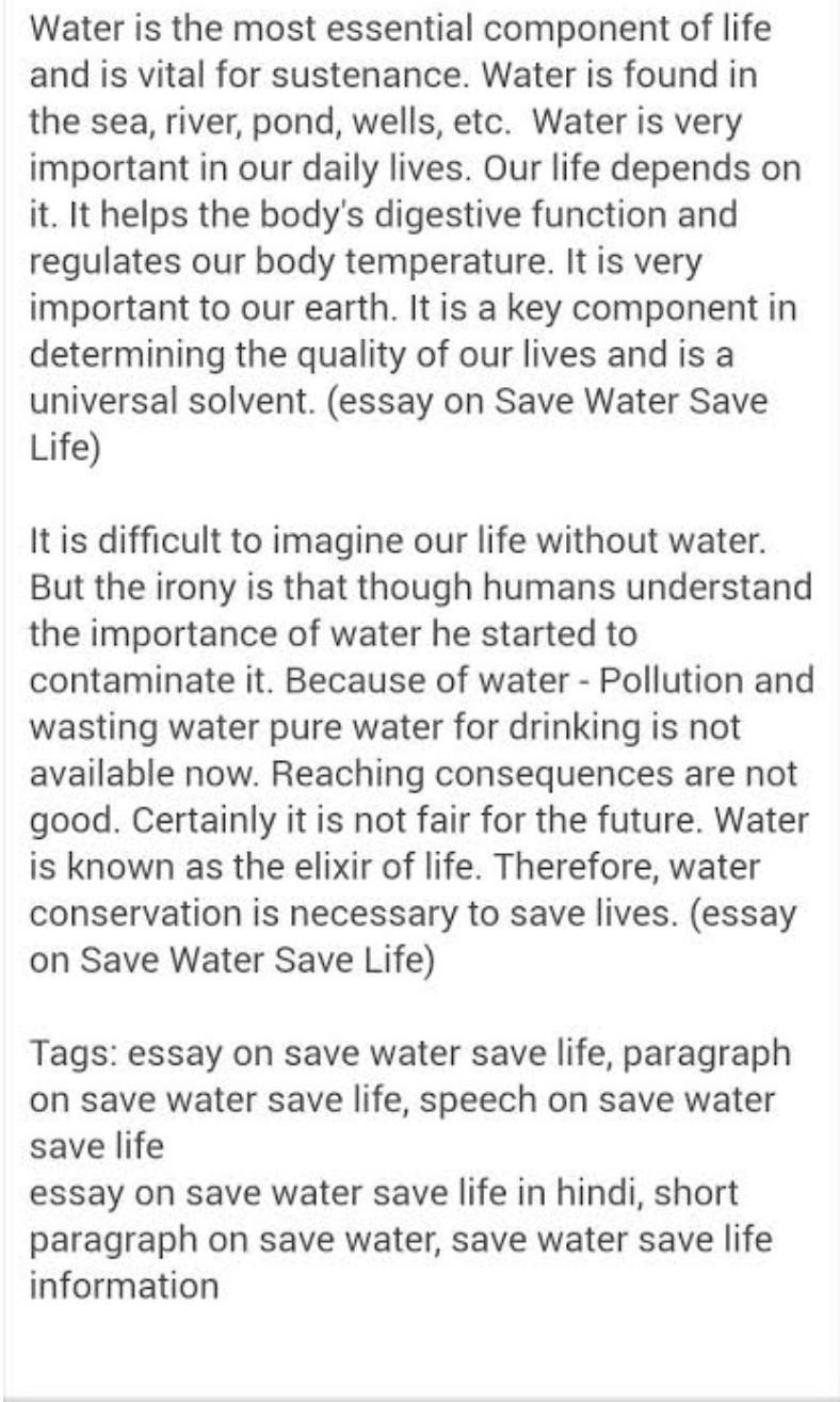 prepare a speech on conservation of water
