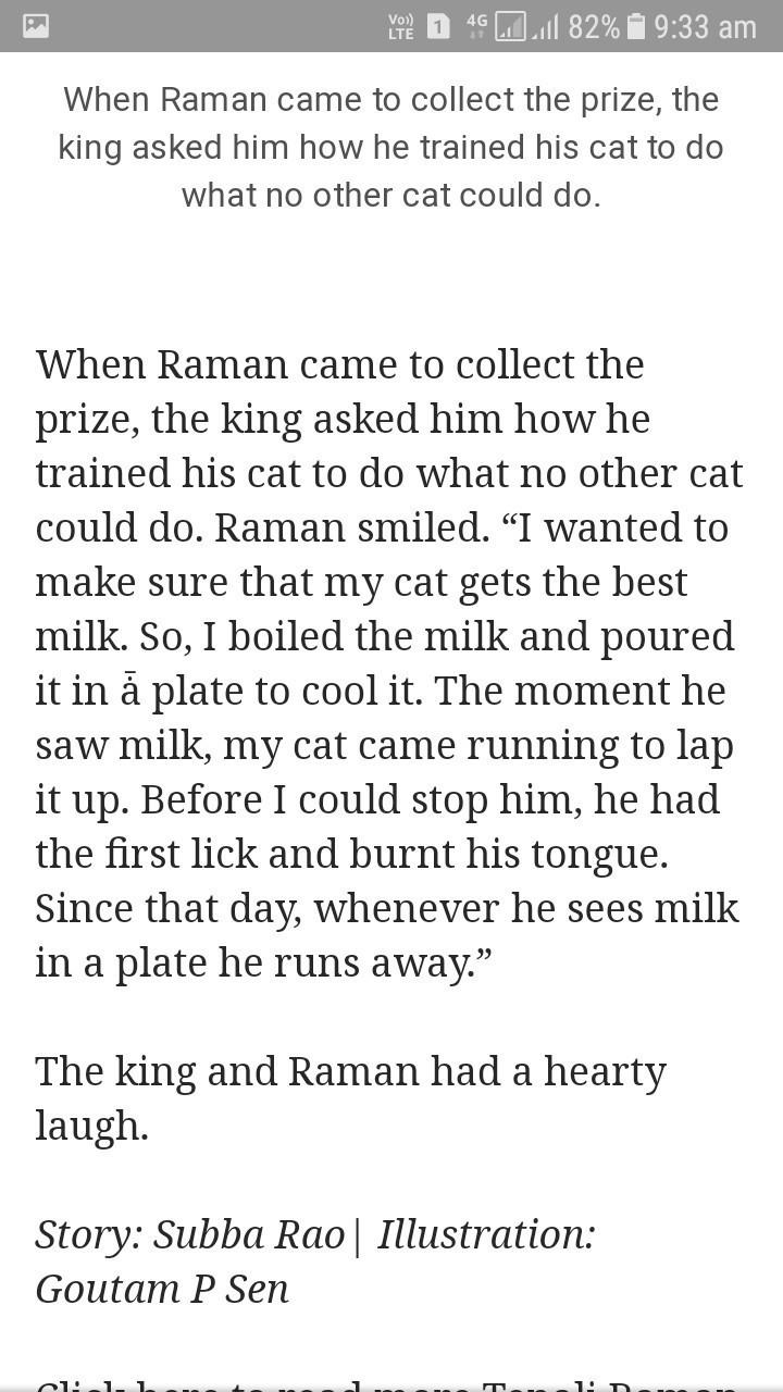 tenali rama krishna funny story - Brainly in