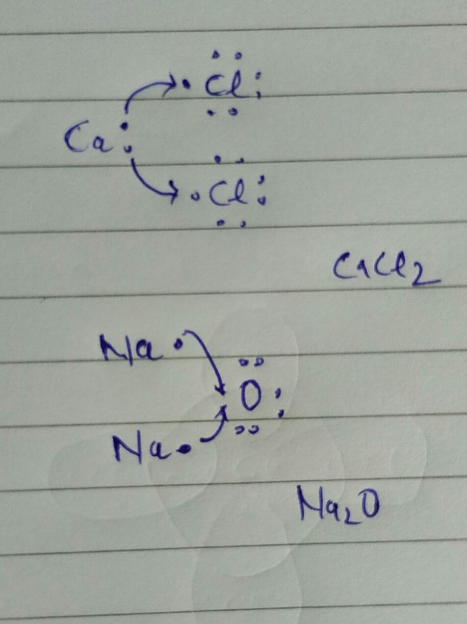 draw the electron dot structure of CACL2 , Na2O - Brainly.in Na2o Dot Structure