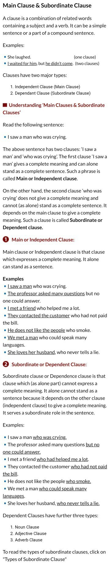 Explain the types of clause with example  - Brainly in