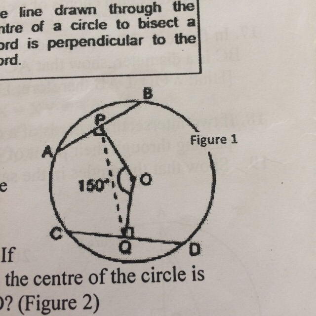 AD is a diameter of a circle and AB is a chord. If AB = 30cm and its ...