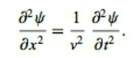 Write the one dimensional wave equation  - Brainly in