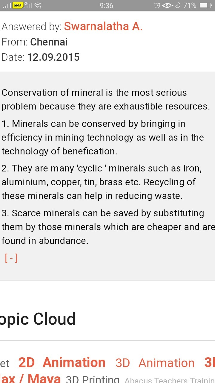 conservation of mineral resources