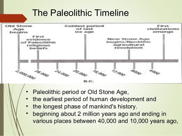 what year was the paleolithic age