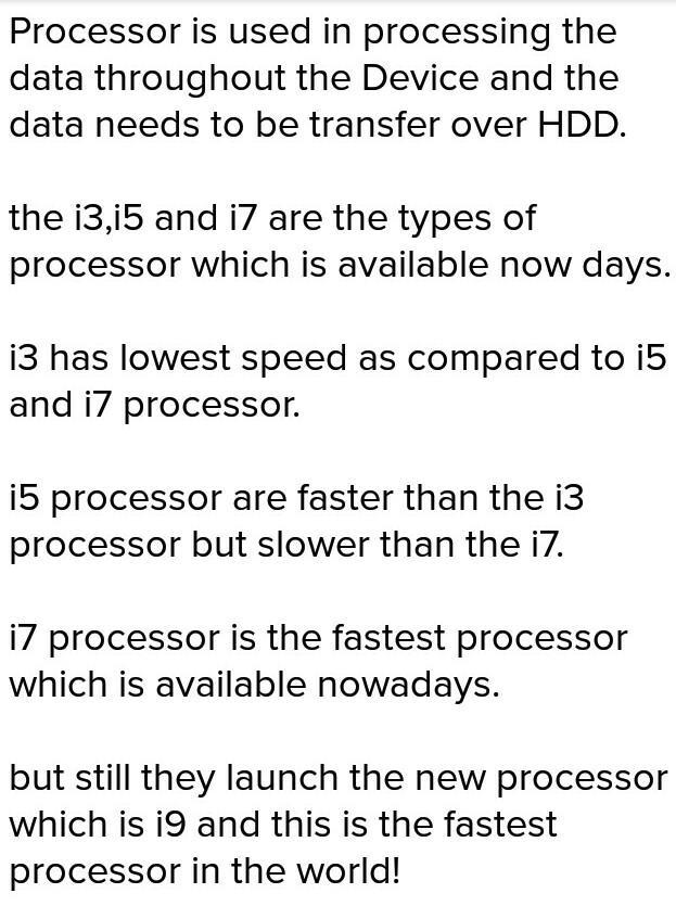 What is a processor(laptop)?what is intel? Differentiate