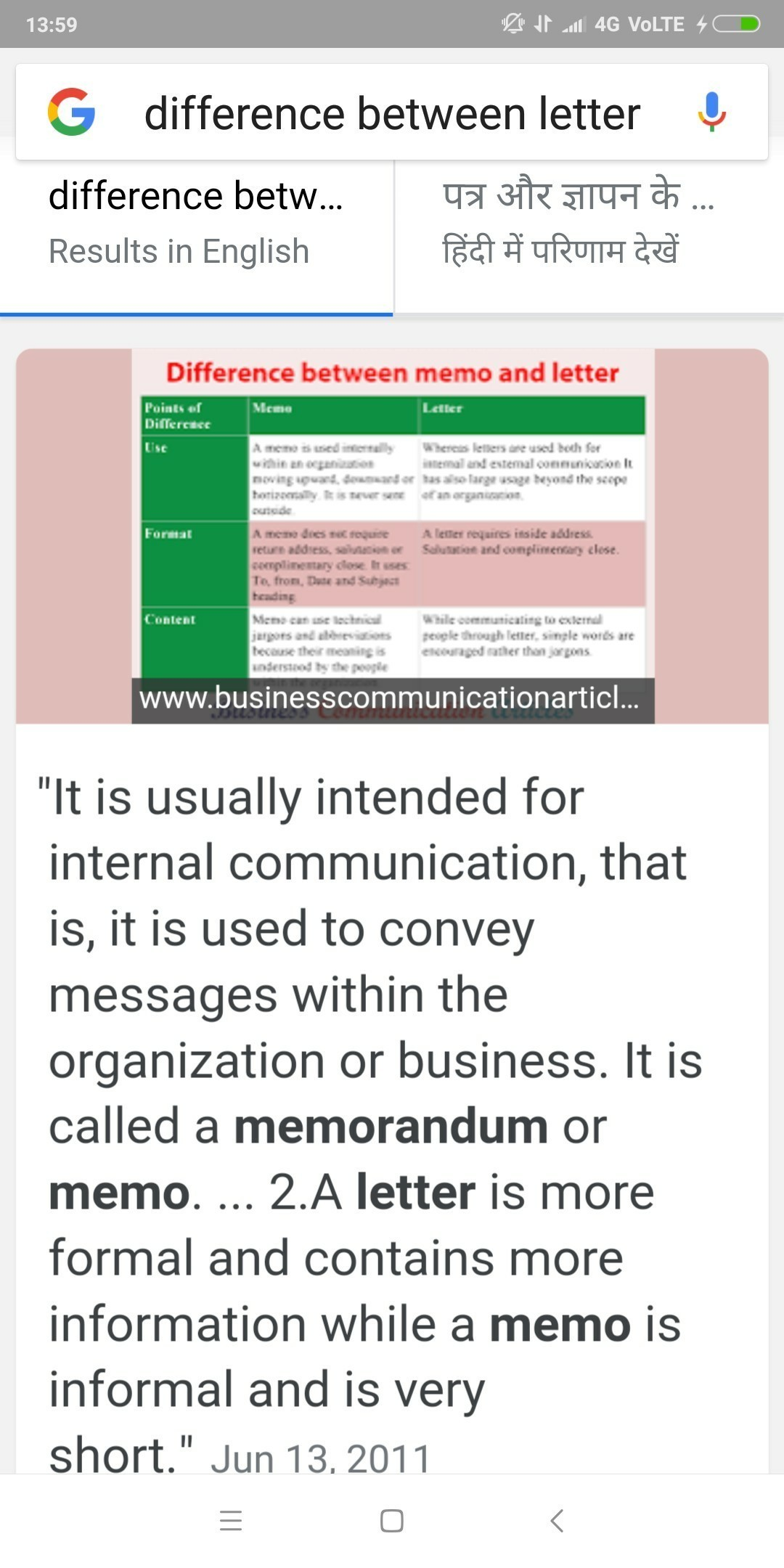 difference between letter and memo   Brainly.in