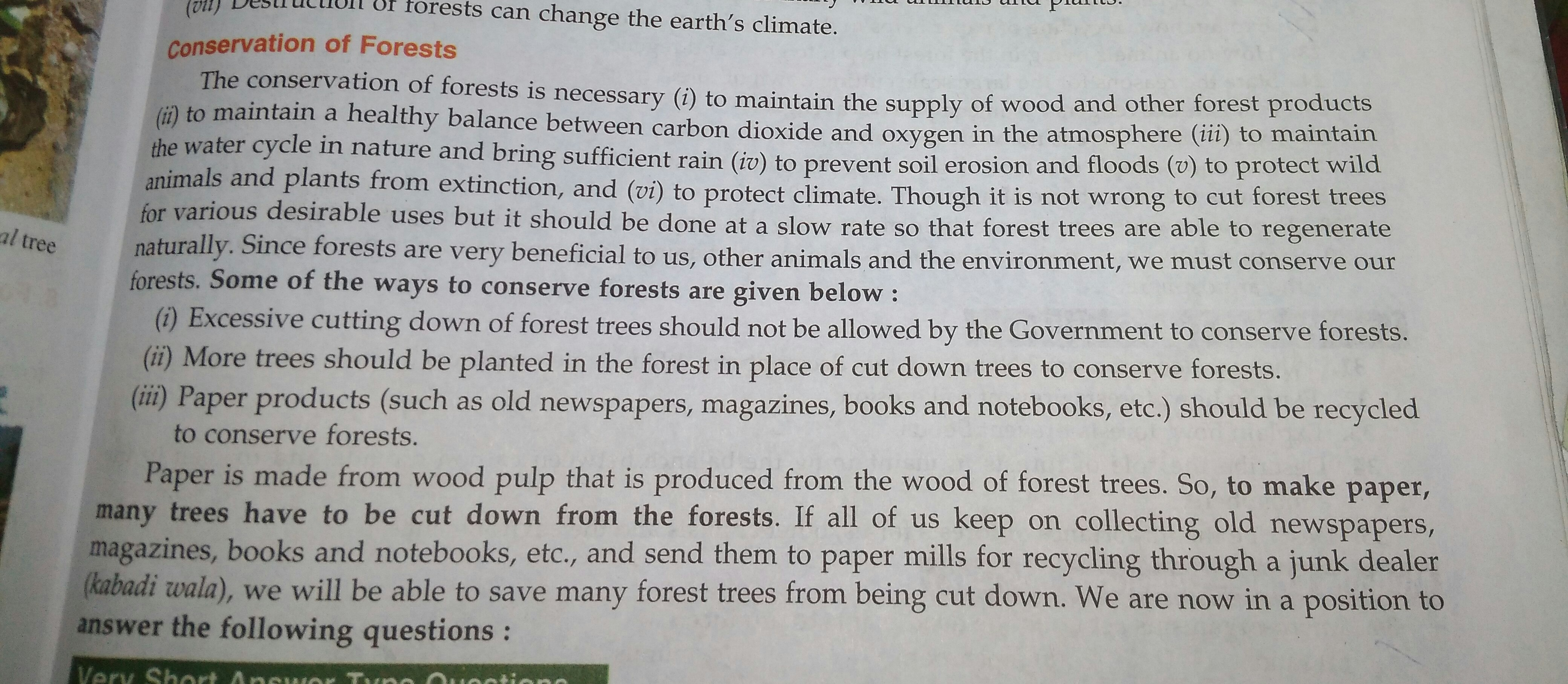 measures to conserve forest