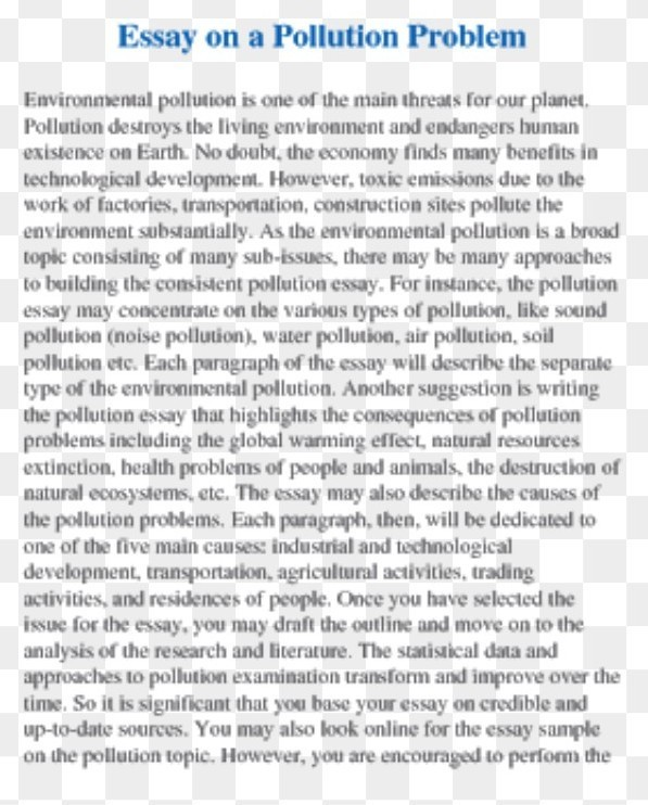 Essay On Pollution For Th Upto  To  Words  Brainlyin Essay On Pollution Problem Example Of A Thesis Statement For An Essay also Health Insurance Essay  Barack Obama Essay Paper