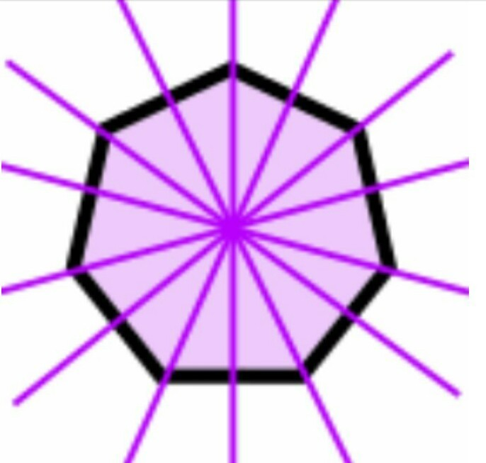 how many lines of symmetry will a regular heptagon 《 seven ...