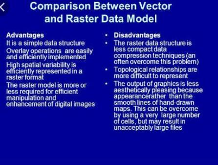 Compare the raster and vector data models  - Brainly in
