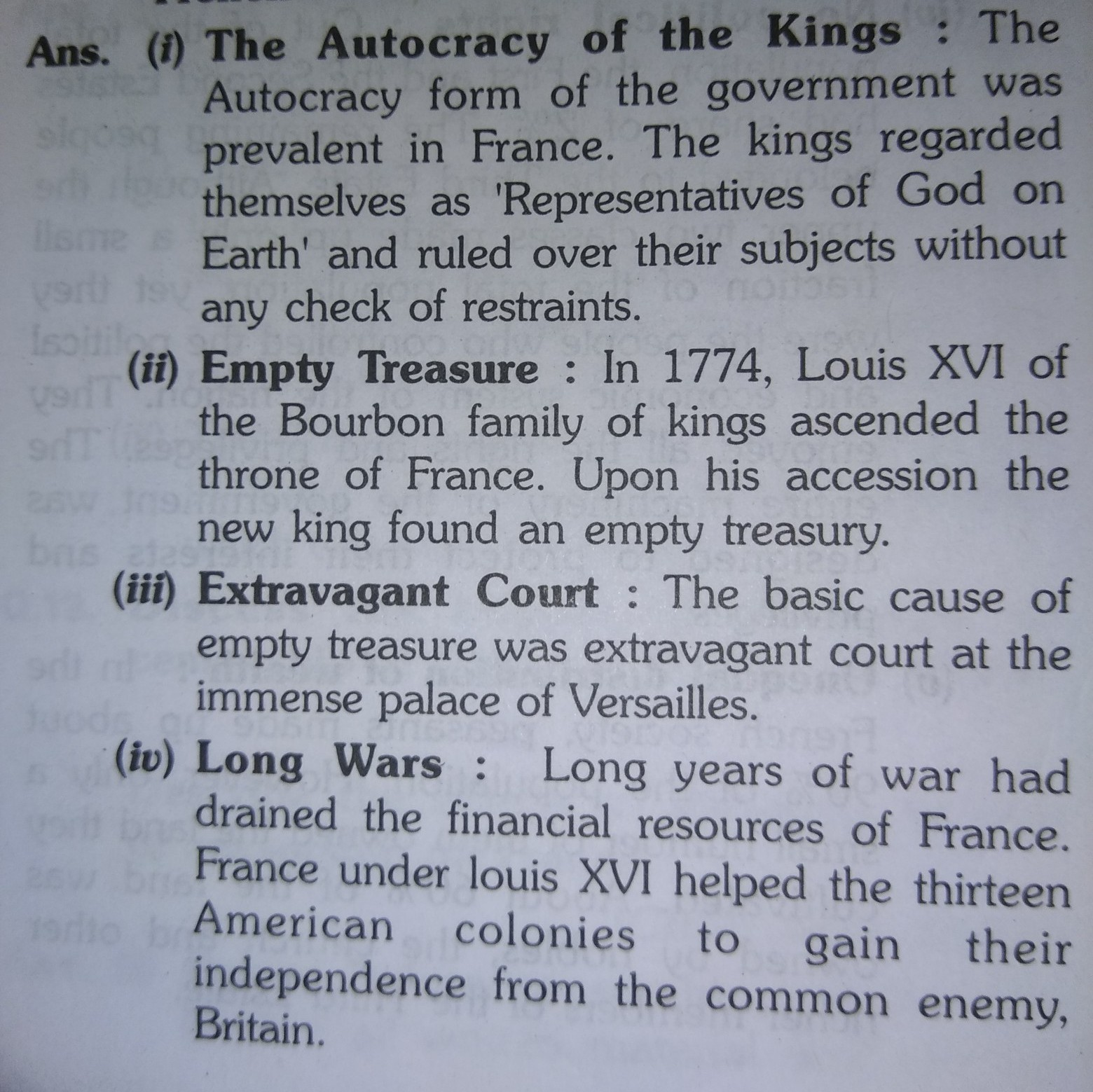 political causes of the french revolution