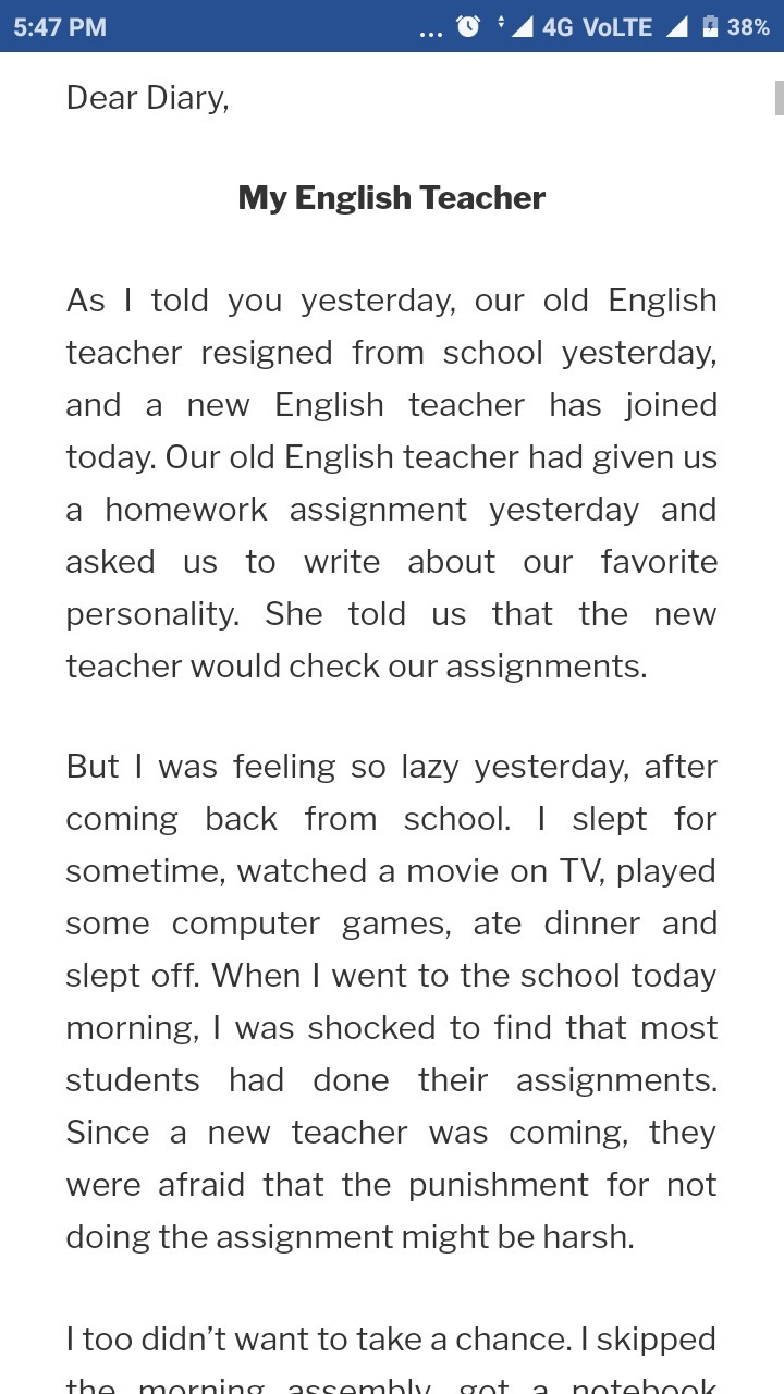 tapic about teacher