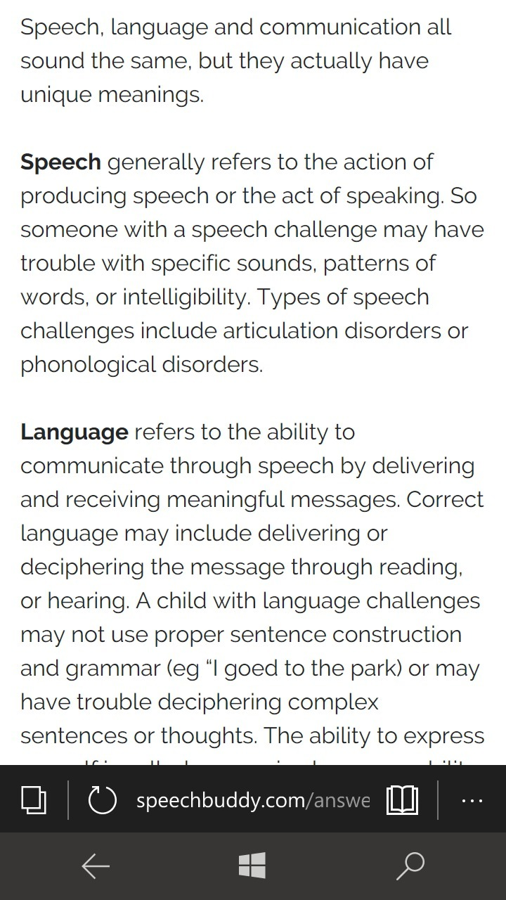 what is the relationship of speech, language and
