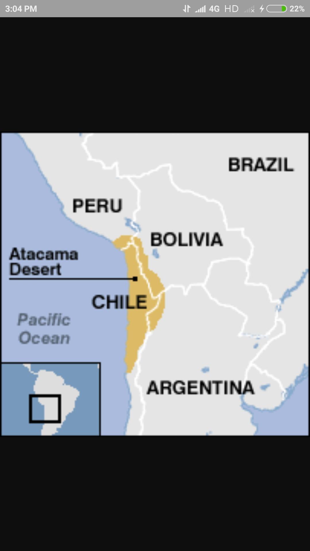 Atacama Desert In World Map Brainly In