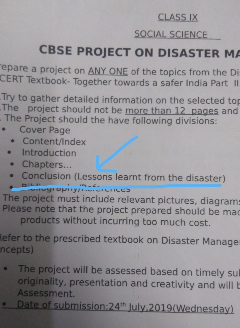 Conclusion Of Disaster Management - Images All Disaster