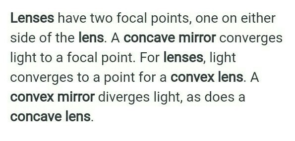 concave and convex mirrors difference