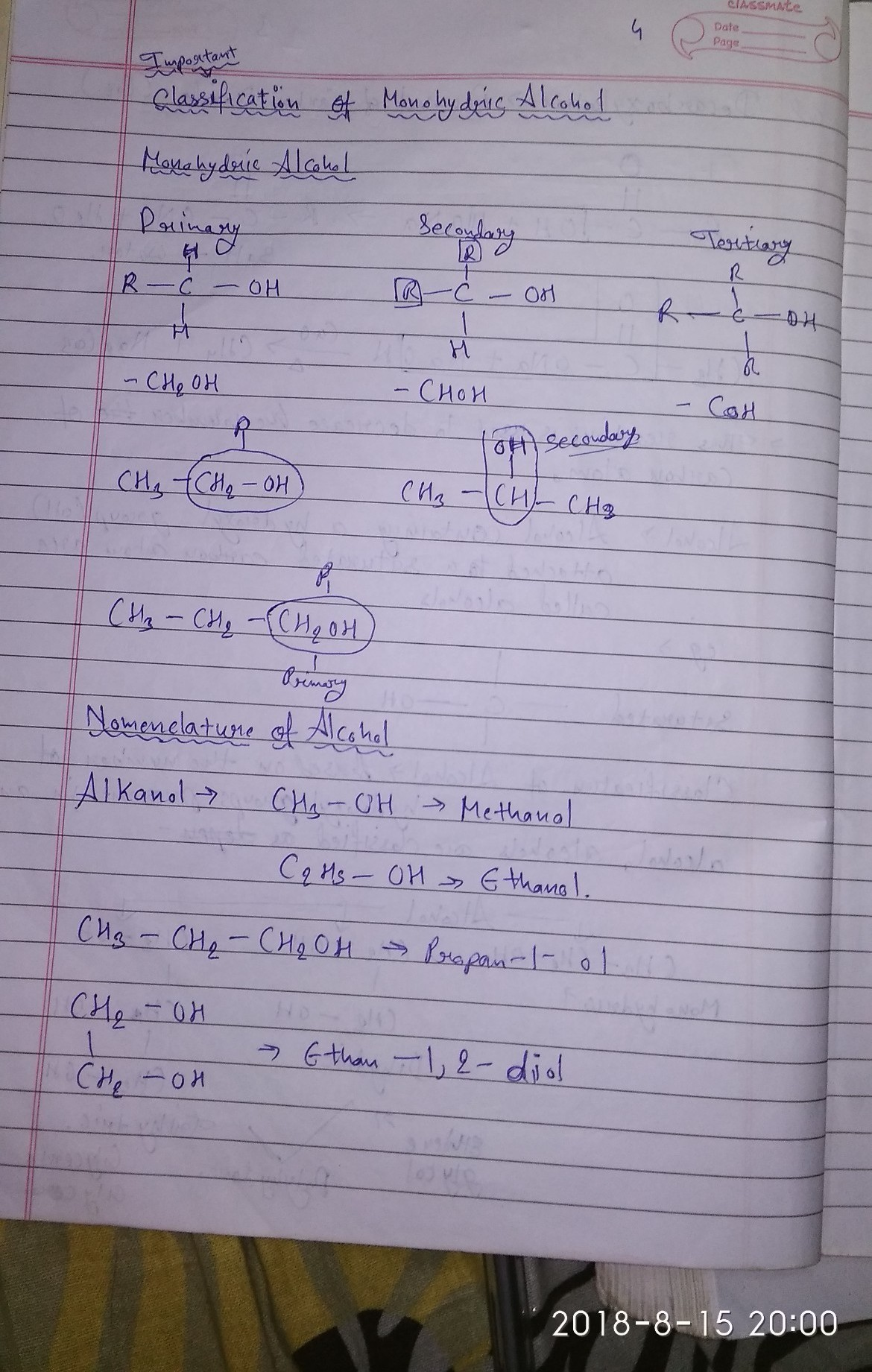 is anyone having notes of organic chemistry? ( class 10) - Brainly in